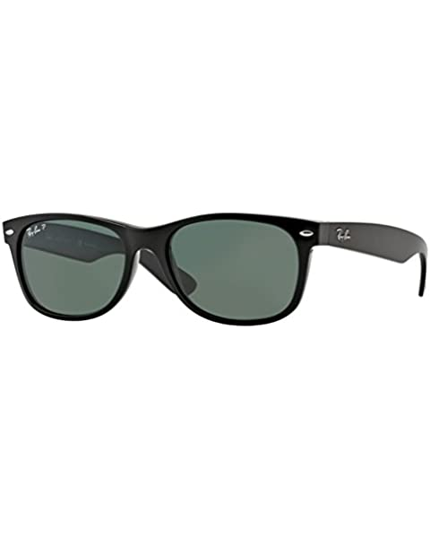138e04def1e Ray-Ban RB2132 New Wayfarer Sunglasses Unisex (Black Frame Polarized Black  Lens