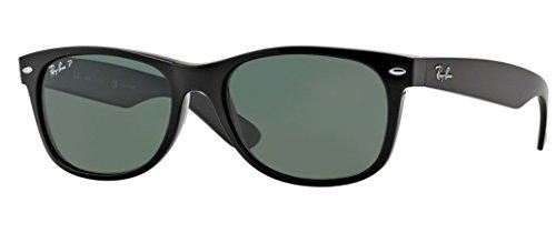 Ray-Ban RB2132 New Wayfarer Sunglasses Unisex (Black Frame Polarized Black Lens, 52 mm)