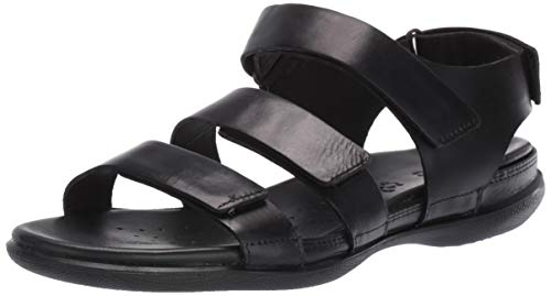 ECCO Women's Flash Strap Sandal, Black, 40 M EU (9-9.5 US) ()