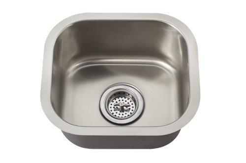 Schon SCSBSB18 Undermount 18-Gauge Single Bowl 14 1/2-Inch by 13-Inch Bar Sink, Stainless Steel by Schon by Schon