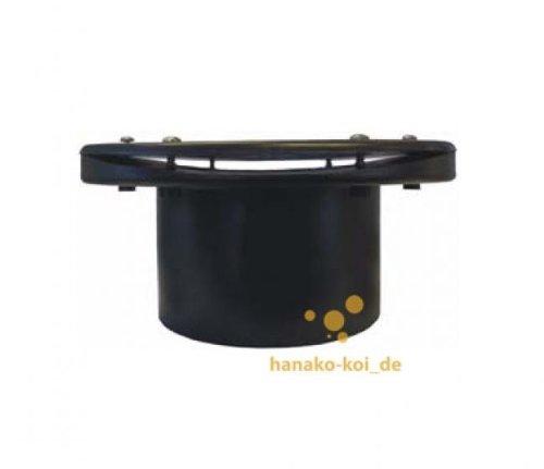 f/ür Vortex ABS // schwarz Flansch // Tankdurchf/ührung gekr/ümmt /Ø 110 mm F/ässer