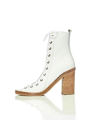 white Ouvert Femme Bottines Marshall Blanc Bout Find ZBAYB