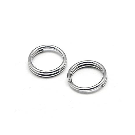 0.7  4 packs available STRONG 110  10 mm Jump rings in dark silver
