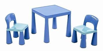 Liberty House - Juego de Mesa y 2 sillas Infantiles, Cloro Azul ...