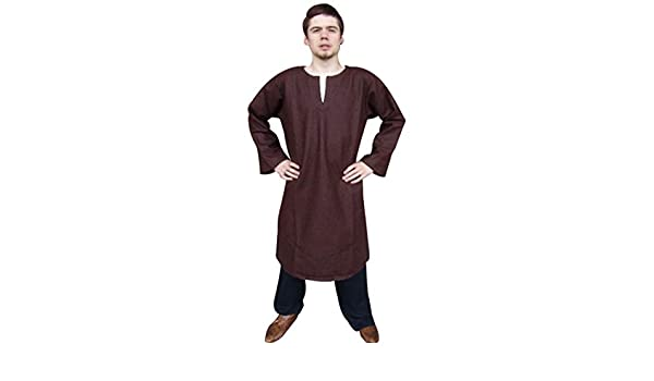 Medieval//LARP//SCA re enactment//Role play BROWN NOBLEMAN TUNIC all sizes Inc 4XL