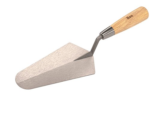 Bon 12-202 7-Inch by 3-3/8-Inch Pro Plus Gauging Trowel with Wood Handle
