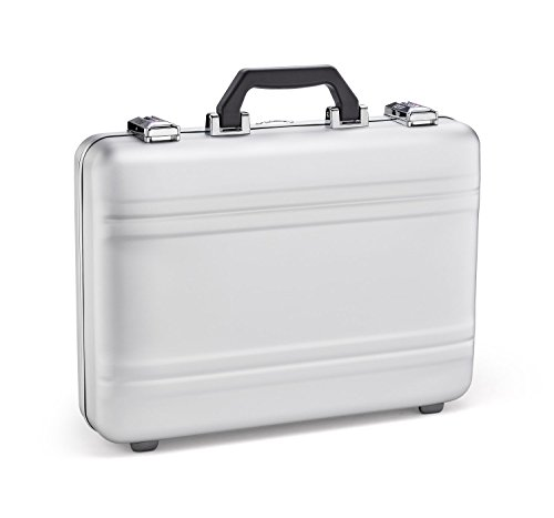 Zero Halliburton Premier Plus Aluminum Attache Case in Silver ()