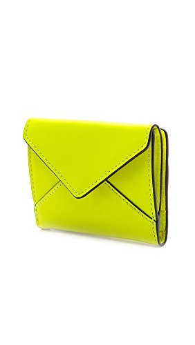 Rebecca Minkoff Dex Card Case,Acid Yellow,One Size