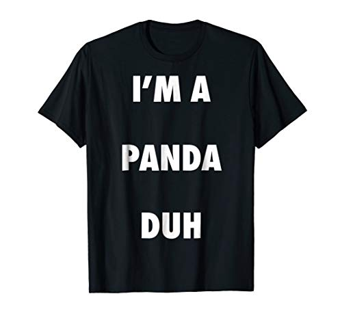 Easy Halloween Panda Costume Shirt for Men Women Kids -