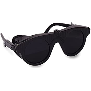 50edd30210 SAFETY GLASSES PROTECTIVE GLASSES SHADE 10 GOGGLES FOR MELTING   SOLDERING  ...