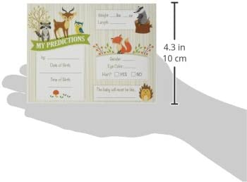 Neutral 5.5x 4.25 Lillian Rose 24BS230 PC Woodland Baby Shower Prediction Cards