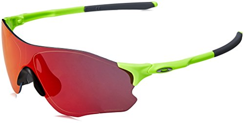 Oakley Men's Evzero Path Non-Polarized Iridium Rectangular Sunglasses, Retina Burn, 38 ()