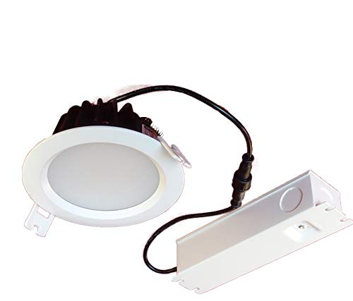 Dimmable Recessed Bathroom Light 4.25 inch 12w Led kit, IP65 Waterproof and IC Insulation Contact Rating, Canada Certified, Perfect for Shower and Bathroom (4000k Natural White)