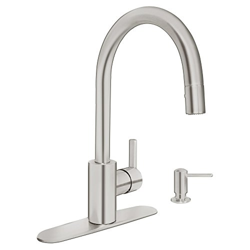 Grohe nickel pull down faucet nickel grohe pull down faucet - Grohe kitchen faucets amazon ...