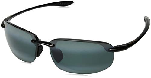 (Maui Jim Ho'okipa Reader (Universal Fit) G807N-0220 | Polarized Rimless Frame Sunglasses, Gloss Black, Neutral Grey Lenses, with with Patented PolarizedPlus2 Lens Technology 2)