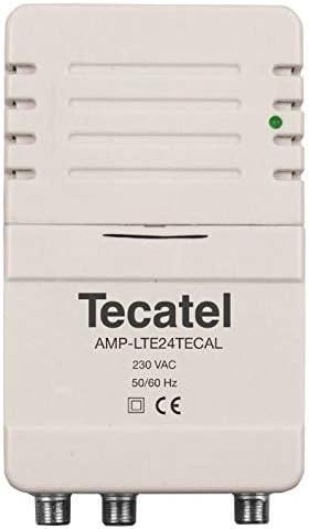 Amplificador Vivienda UHF 24dB 2 Salidas LTE 5G: Amazon.es ...