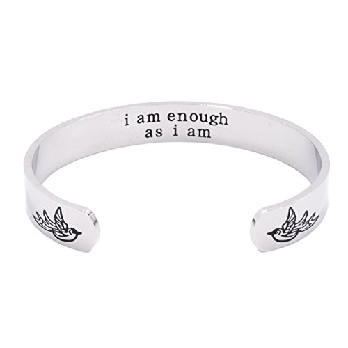 LParkin I Am Enough As I Am Bracelet (Cuff-Bracelet)