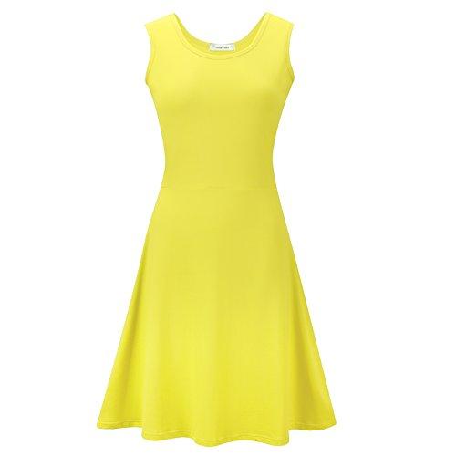 Yellow Sleeveless Dress - 3