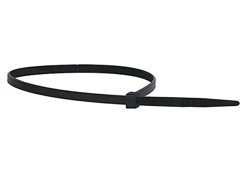 Monoprice Cable Tie 14 inch 50LBS, 100pcs/Pack - Black