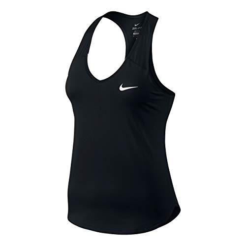 Nike Blanco Tank Negro white Pure Mujer Para black Camiseta HSavWgqH