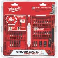 Milwaukee Electric Tools Bit Driver Impact Set 32 Piece 48-3