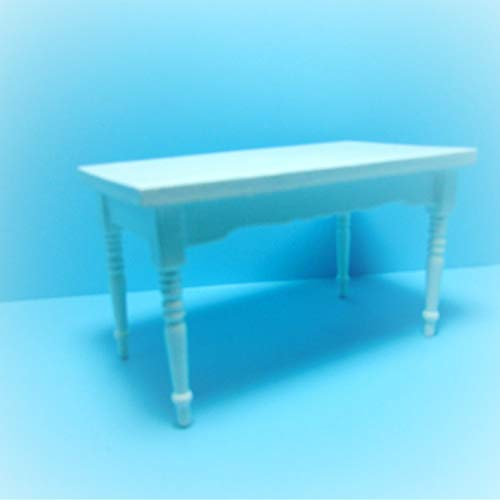 Dollhouse White Rectangle Dining Room/Kitchen Table KL1983 - Miniature Scene Supplies Your Fairy Garden - Doll House - Outdoor House Decor