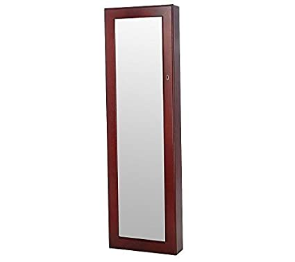 Amazon Btexpert Premium Wooden Jewelry Armoire Cabinet Wall