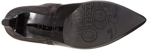 Uda Suede Carbon Calza Kaiser Peter Donna schwarz 733 Nero Glove Stivali Arricciati aFwUnfwq6
