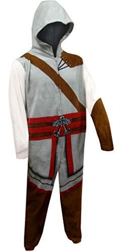 Underboss Men's Assasin's Creed One Piece Union Suit Pajama (Medium) Gray ()