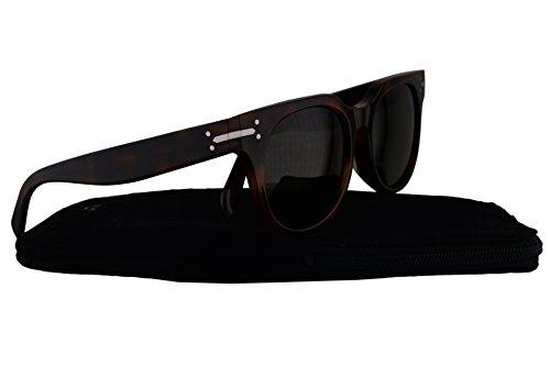 Celine CL41084/F/S Sunglasses Havana w/Green Lens 05L1E CL41084S CL 41084S CL41084/S CL - Sunglasses F&s