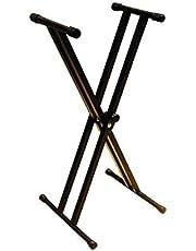 RockJam RJX29 Supporto per Tastiera Musicale, 5 posizioni di altezza regolabili tra 65.5 e 98 cm
