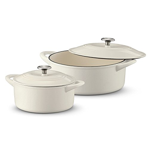 Tramontina Dutch Oven 2-Pack Set, 7 Quart & 4 Quart Off-White