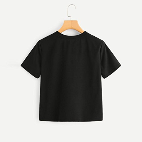 A T Donne Estate Corta Crop donna Maglietta sexy estate Manica elegante tumblr donna donna Top estate top Stampato Donna shirt nero Canotta strisce Arcobaleno Sysnant Bloccare da da wRwxC7