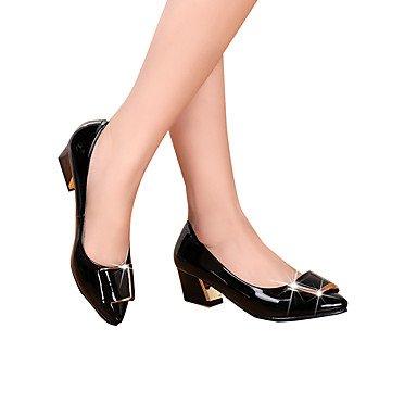 Formales 7'5 Almond Mujer ggx Tacones Otoño Cms Zapatos Primavera Confort 9'5 Robusto Lvyuan Negro Almendra Tacón Cuero qOXwad5wx
