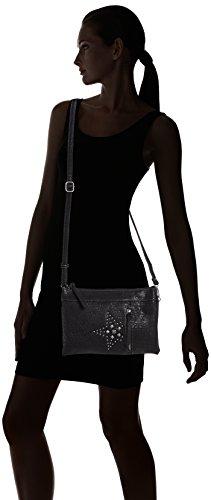 Mujer Schwarz Tom de Tailor para 60 Negro Bolso Hombro Denim Geli 0nA61rz0