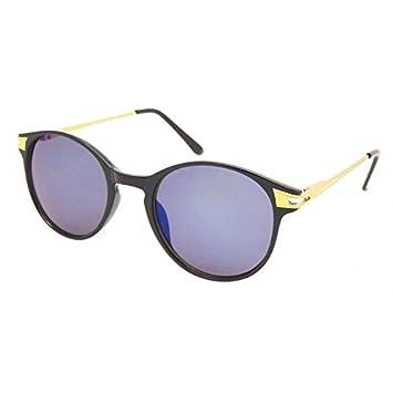 Chic-net rond métal vintage lunettes de soleil style aviateur style golden orné de john lennon Bleu bleu BHHMw7