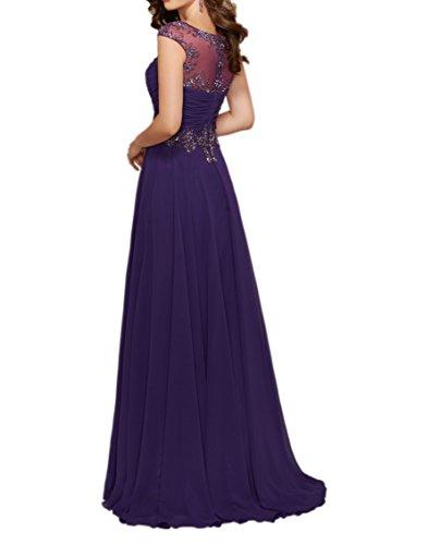 La Linie Braut Bodenlang mia Langes Partykleider Brautmutterkleider Abendkleider Chiffon Blau Wassermelon Royal A Ballkleider p1UHpwqT