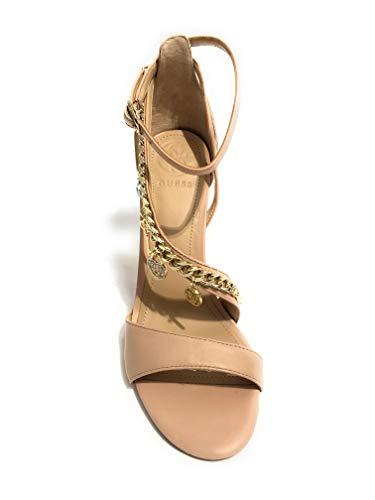 Guess Con Tobillo Mujer sandal Zapatos Correa Tacon Kayak leather Para Rosa De Y aaq4HF