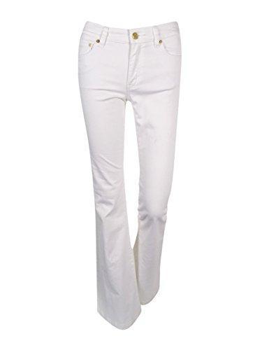 Michael Kors Women's White Wash Selma Flare-Leg Jeans size -