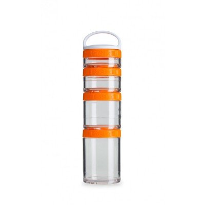 Blender Bottle GoStak Starter 4Pack Orange Color Durable