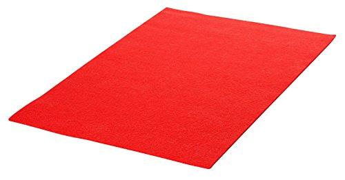Filzplatte Rot VBS 30x20 cm Stärke:1,5 mm Rot