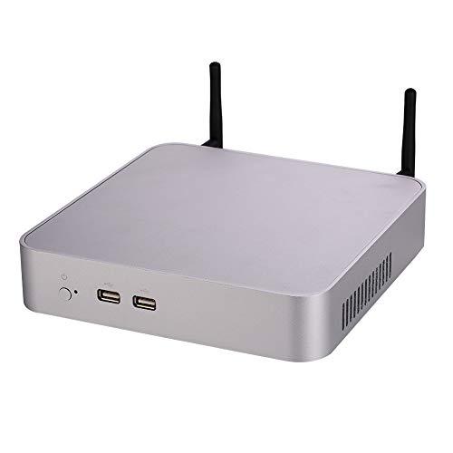 [해외]데스크탑 컴퓨터4K 미니 PCWindows 10 프로리눅스 우분투인텔 코어 I7 7700HQ(실버)[HUNSN BA0 / Desktop Computer4K Mini PCWindows 10 ProLinux UbuntuIntel Core I7 7700HQ(Silver)[HUNSN BA0