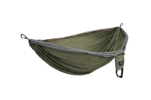 Outfitters Double Nest Hammock (ENO Eagles Nest Outfitters - Double Deluxe Hammock, Khaki/Olive/Silver)