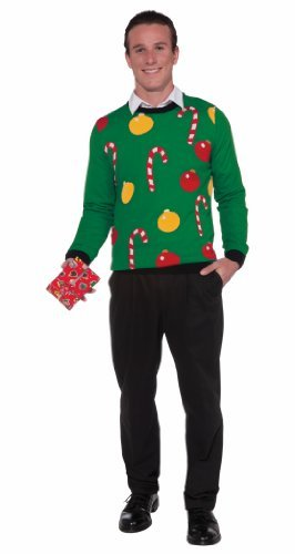 Forum Novelties Adult Tis The Season Ugly Christmas Sweater, Multi, Medium