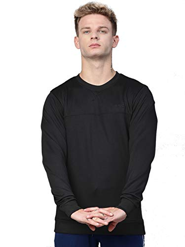 ALCiS Men Black Solid Sweatshirt