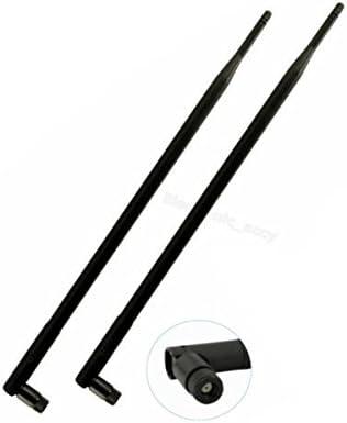 2x New Dual Band 2.4GHz 5GHz 9dBi RP-TNC High Gain WiFi Wireless Antennas