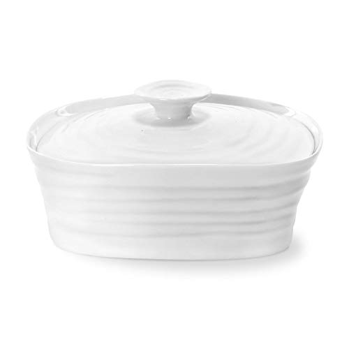 Portmeirion Sophie Conran White Covered Butter Dish ()