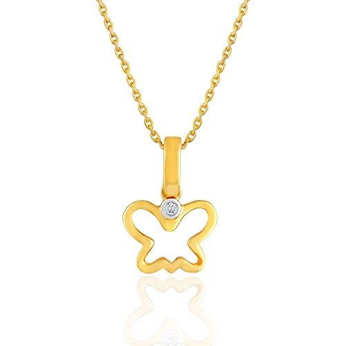 Giantti 14carats Diamant Pendentif Femme Collier (0.0137CT, VS/Si-clarity, Gh-colour)
