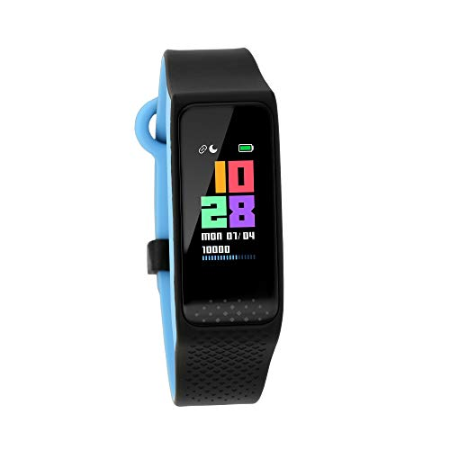 Fastrack reflex 3.0 (Black & Blue) Uni-sex activity tracker – Full touch, color display, Heart rate monitor, Dual- tone…