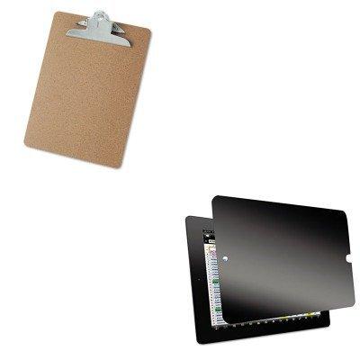 KITKTKSVT4723UNV40304 - Value Kit - Kantek Secure View Four-Way Privacy Filter for iPad 1st-3rd Gen (KTKSVT4723) and Universal 40304 Letter Size Clipboards (UNV40304)